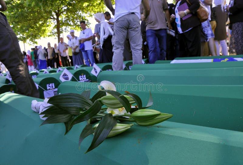 Srebrenica - Potocari, Bósnia e Herzegovina foto de stock royalty free