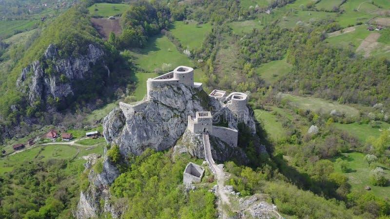 Srebrenik fortress. Located on the northeastern slopes of Majevica, in the village of Gornji Srebrenik, about 5 km from Srebrenik. It was built on a high, steep stock image