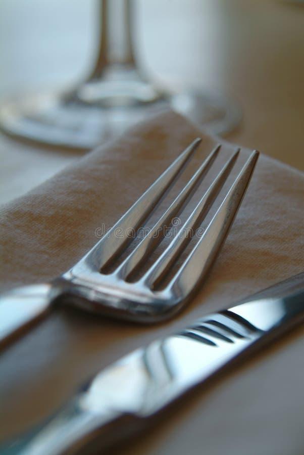 srebrna zastawa zdjęcie stock