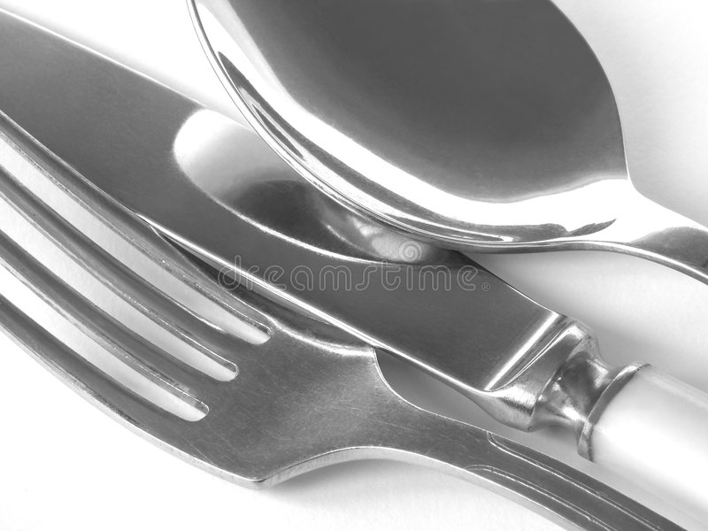 srebrna zastawa zdjęcia stock