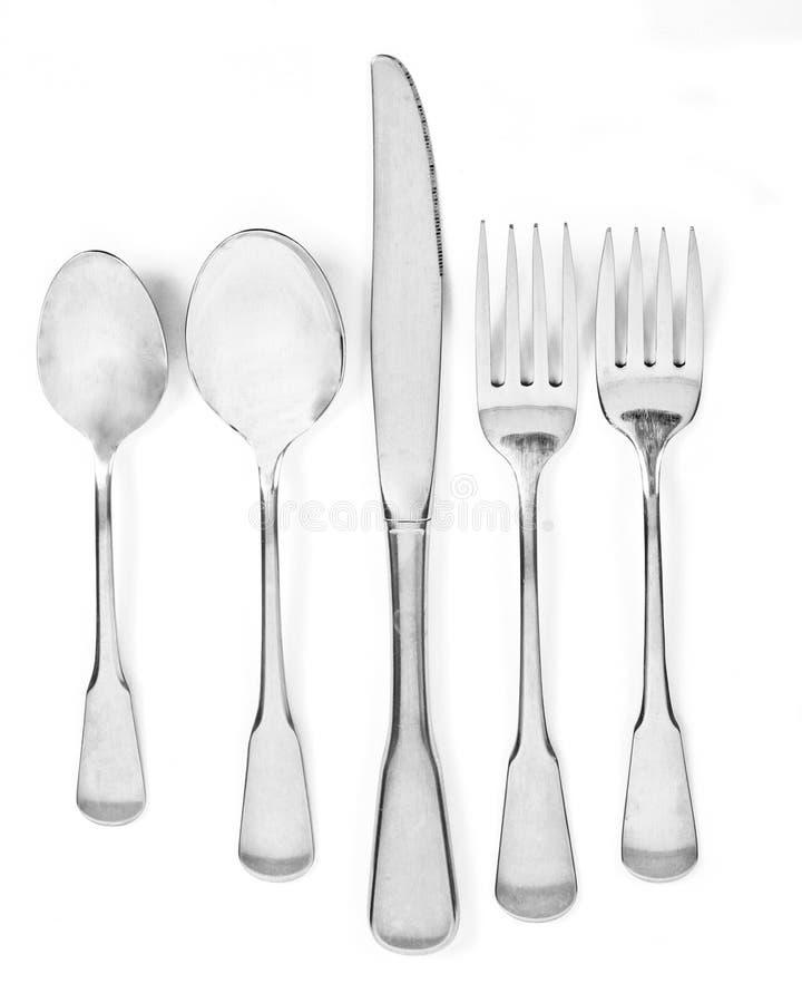 srebrna zastawa zdjęcie royalty free