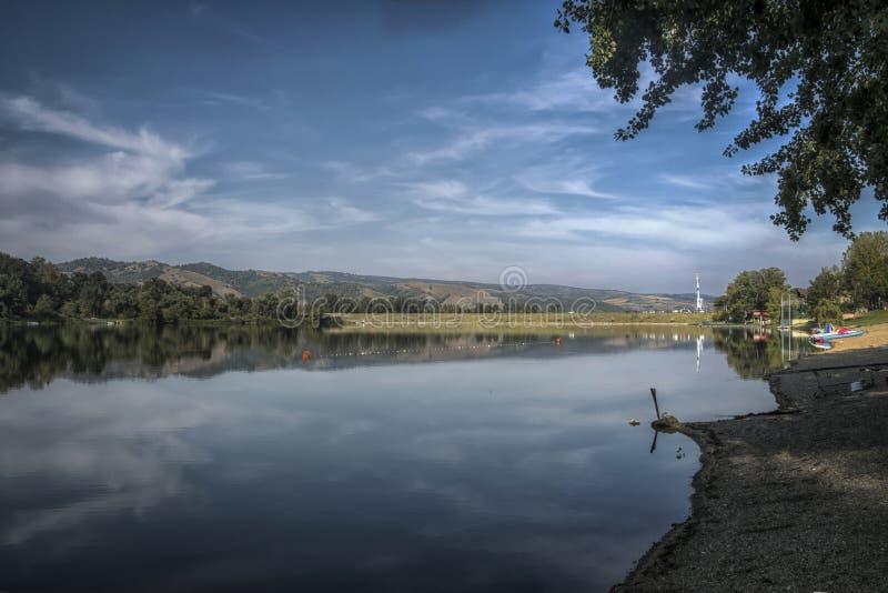 Srebrno jezero. Silver lake, a lake in Serbia royalty free stock image