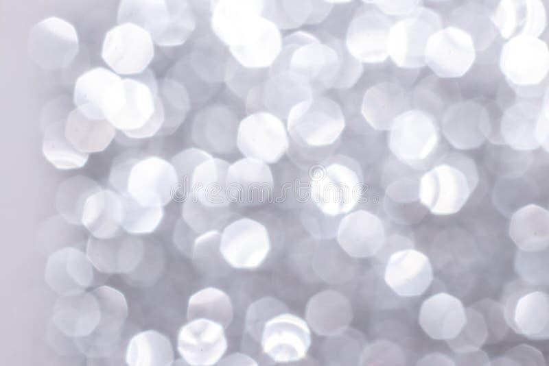 Srebrny blask na tle świątecznym Koncepcja obchodów świąt i rocznicy zdjęcia stock