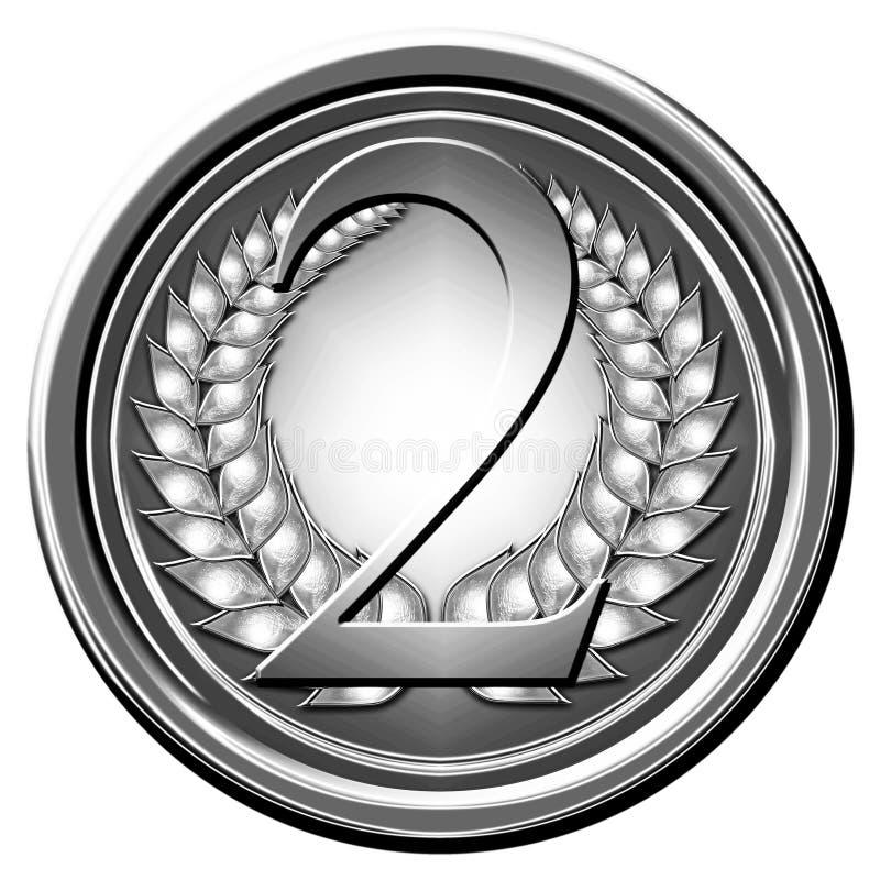 Srebrny medal ilustracji