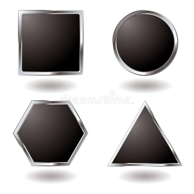 srebrny przycisk różnicy royalty ilustracja
