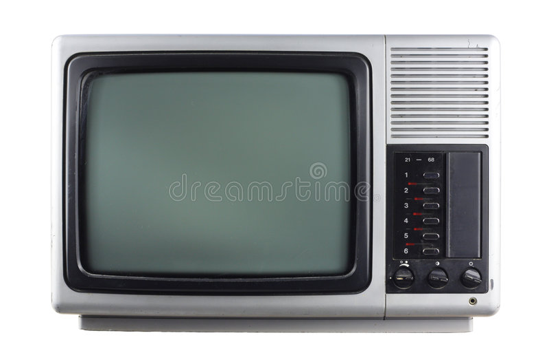 srebrny tv zdjęcie stock
