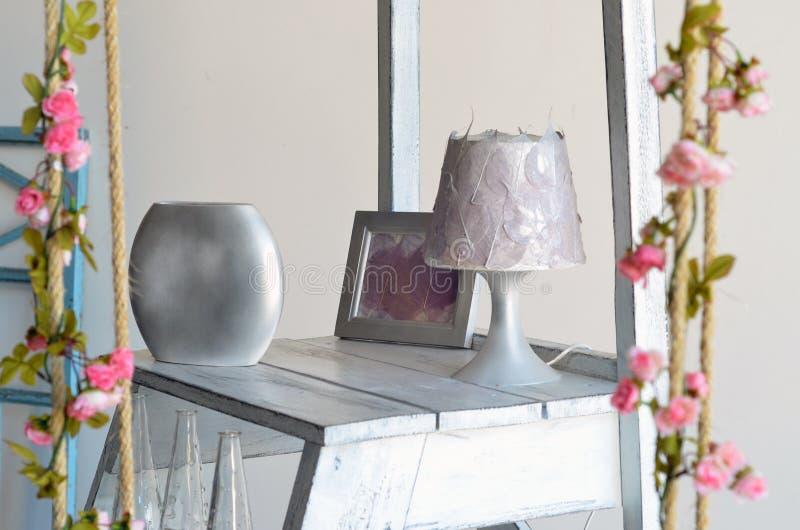Srebro domowe dekoracje obrazy stock