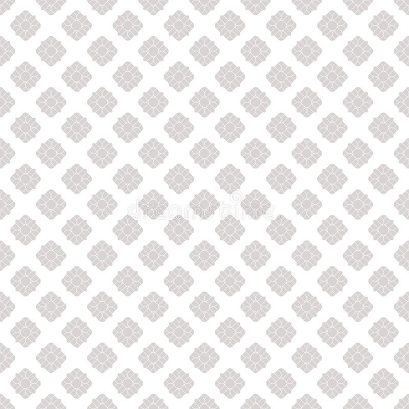 Srebro kwitnie bezszwowego wz?r Subtelna wektorowa ornamentacyjna geometryczna tekstura royalty ilustracja
