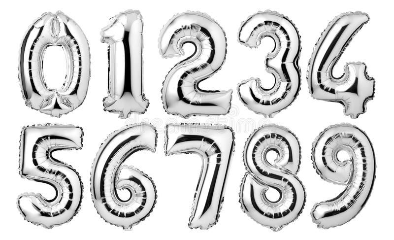 srebro liczy balony royalty ilustracja