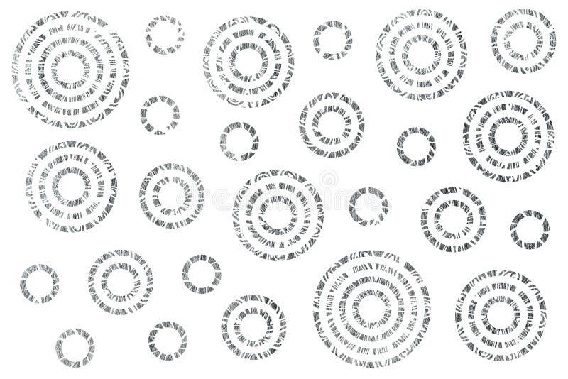 Srebro malujący abstraktów okregów wzór royalty ilustracja