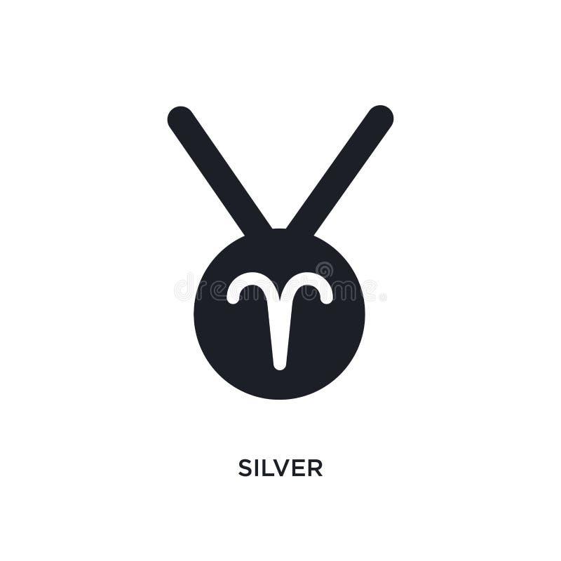 srebro odosobniona ikona prosta element ilustracja od zodiaka pojęcia ikon srebny editable logo znaka symbolu projekt na bielu ilustracji