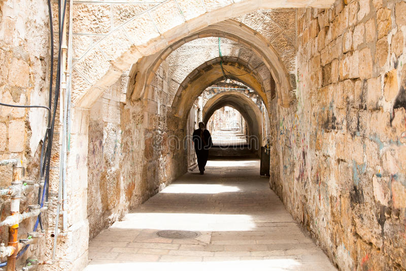 Sreet de Jerusalem.Israel photographie stock