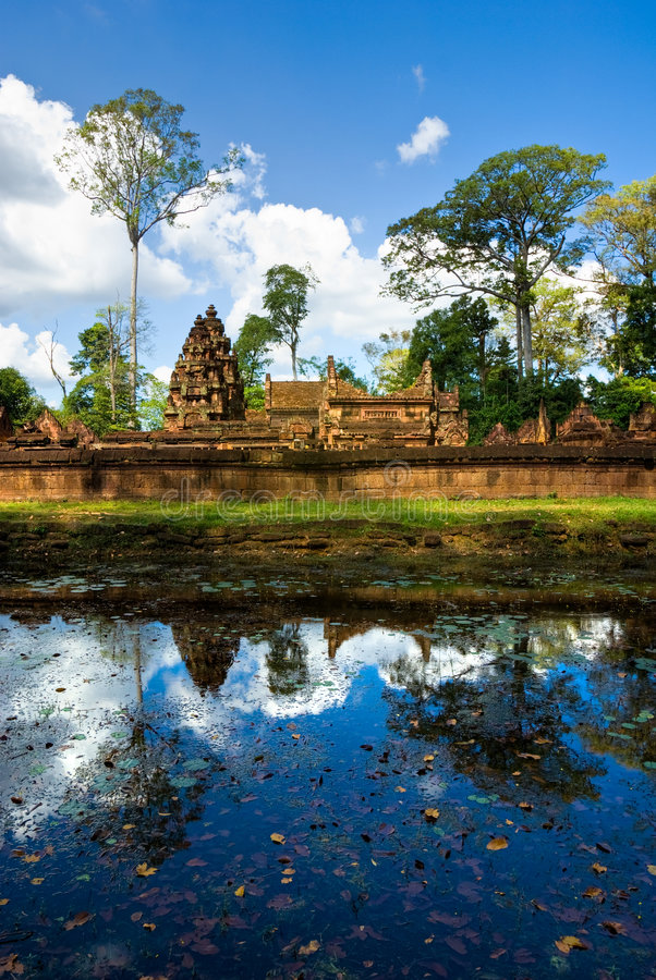 Srei de Banteay, Angkor, Cambodia. imagem de stock royalty free
