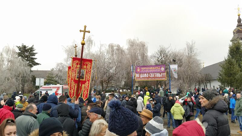 Sremska Mitrovica / Serbia - January 19, 2020: Religious