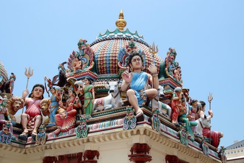 Sri Świątynia Mariamman - Singapur obrazy royalty free