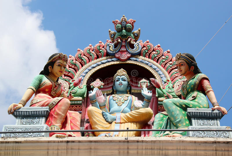 Sri Świątynia Mariamman - Singapur obraz royalty free
