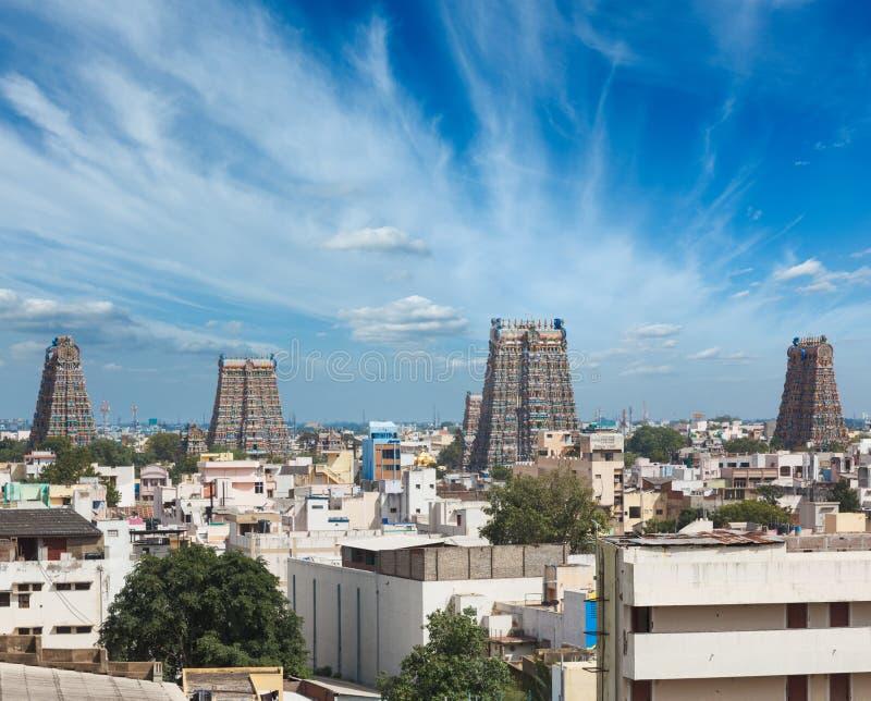 Sri Świątynia Menakshi. Madurai, India obraz royalty free