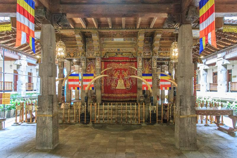 Sri Dalada Maligawa ή ο ναός του ιερού λειψάνου δοντιών - Kandy, Σρι Λάνκα στοκ εικόνα με δικαίωμα ελεύθερης χρήσης