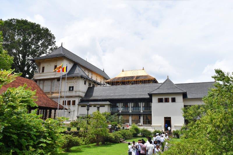 Sri Dalada Maligawa Kandy, Sri Lanka stock afbeeldingen