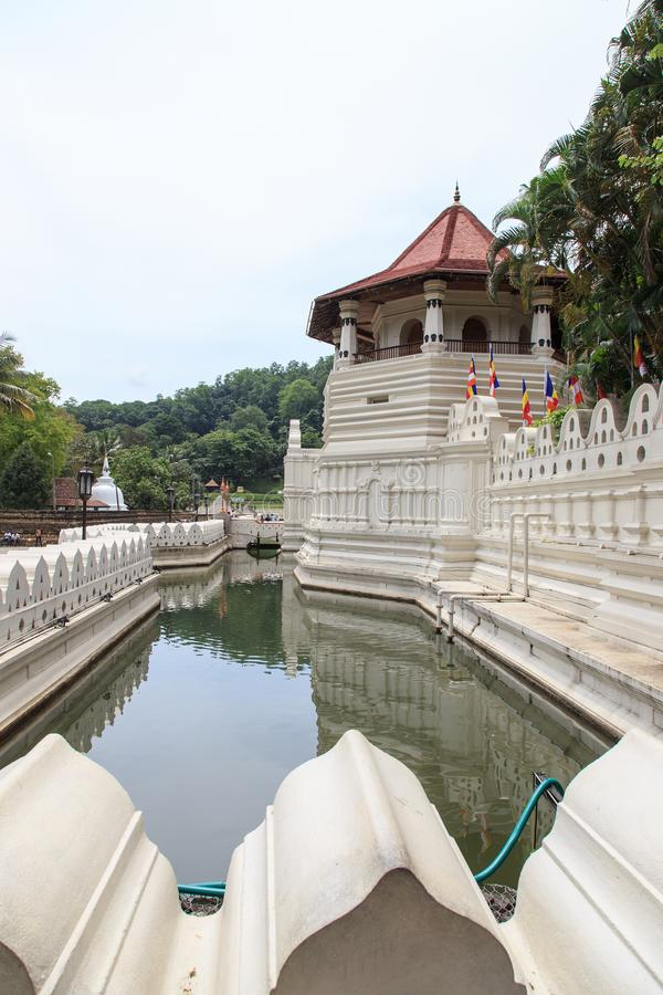 Temple of the Tooth and Royal Palace - Kandy, Sri Lanka. Sri Dalada Maligawa or the Temple of the Sacred Tooth Relic is a Buddhist temple in the city of Kandy royalty free stock photography