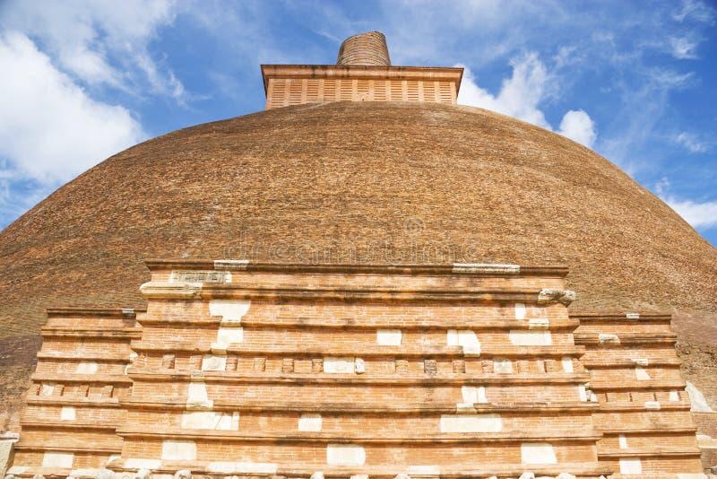 sri för lanka för anuradhapuradagobajetavana royaltyfria bilder