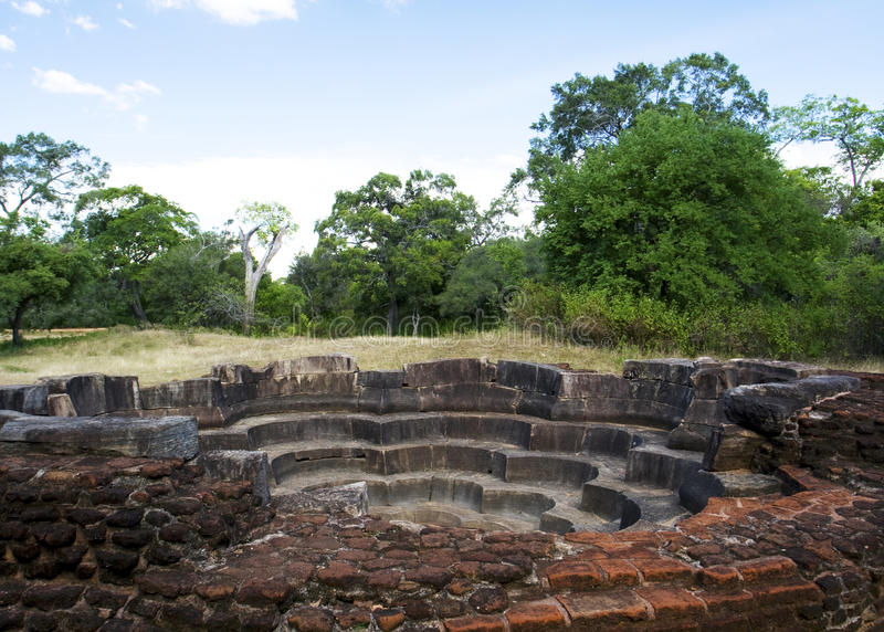 sri för polonnaruwa för badlankalotusblomma arkivfoton