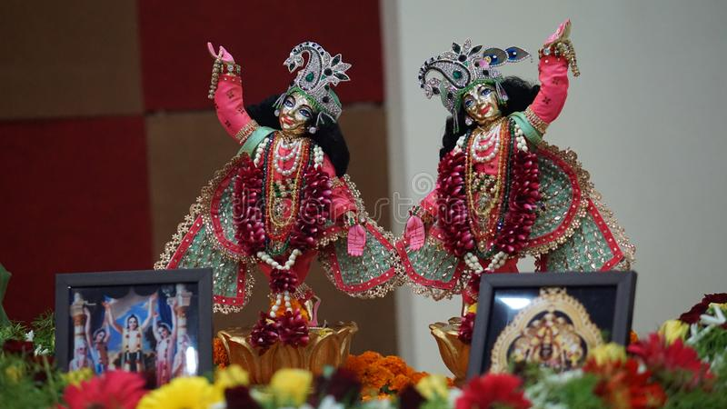 Sri Sri Gaur Nitai royalty-vrije stock fotografie