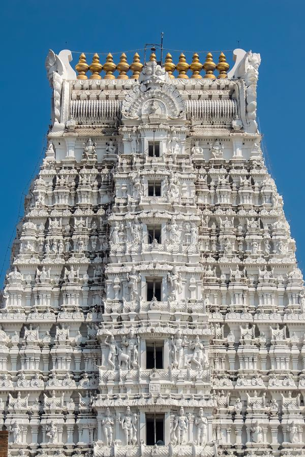 Sri Govinda王侯斯瓦米寺庙, Tirupati,印度建筑学  库存照片