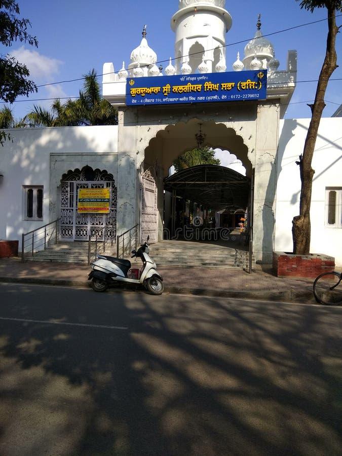 Sri Gurdwara Sahib sektor 59 Mohali arkivfoton