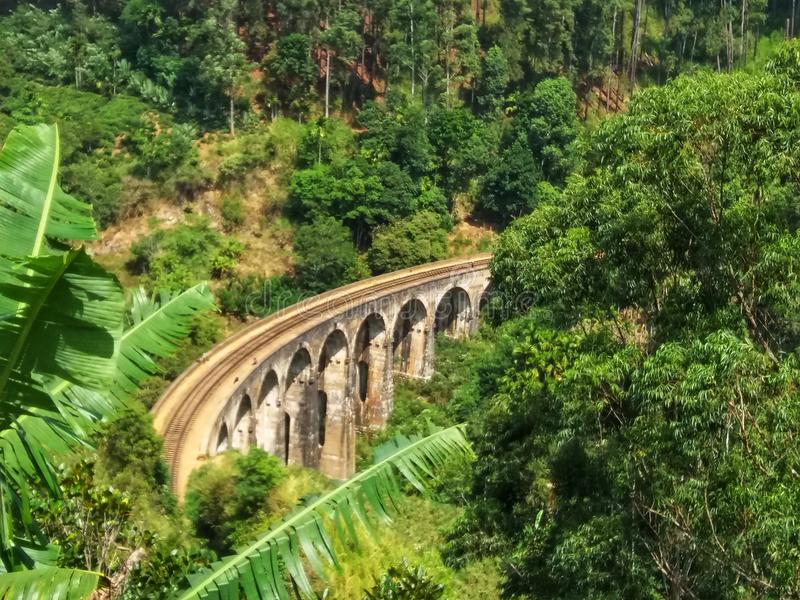 Sri Lanka 9 Łękowaty most blisko do Ella obrazy stock