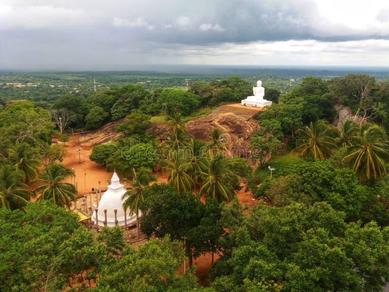 Sri Lanka świątynny powikłany Mihintale obraz stock