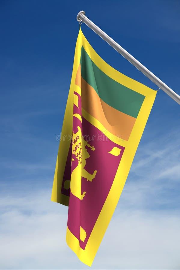 sri lanka σημαιών στοκ εικόνες