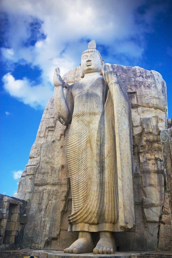 sri lanka του Βούδα aukana στοκ φωτογραφία