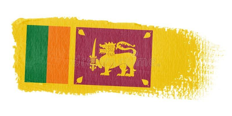 sri lanka флага brushstroke иллюстрация штока