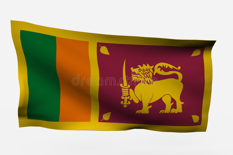 Sri Lanka 3d Flag Stock Photography
