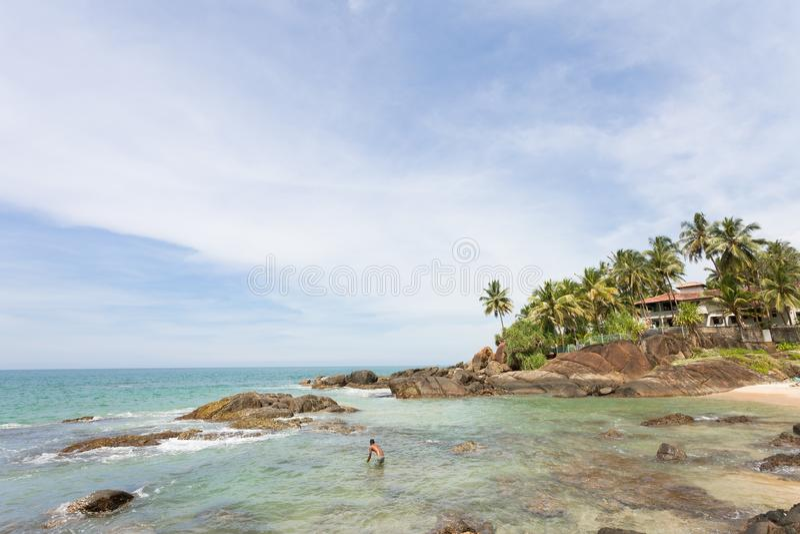Sri Lanka - Ahungalla - où le paradis se sent pour être vraiment près images stock
