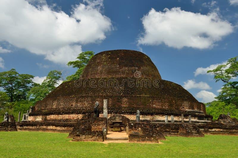 Sri Lanka, alte Ruine Polonnaruwa lizenzfreies stockfoto