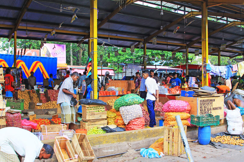 Sri Lanka Bazaar stock image