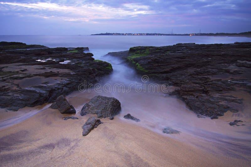 Sri Lanka: Beach in Hambantota. Beach during dusk in southern coast of Sri Lanka in Hambantota royalty free stock photography