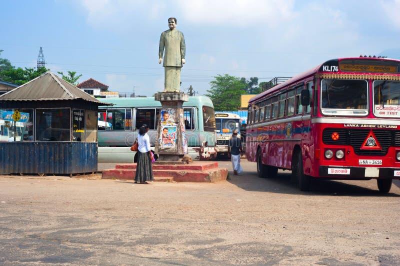 Sri Lanka-Busbahnhof lizenzfreie stockbilder