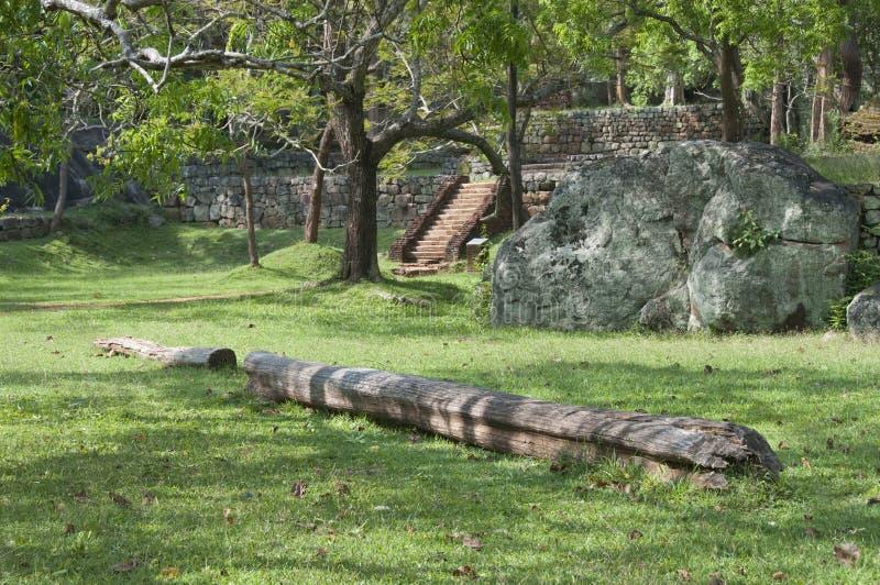 Sri Lanka, Ceylon, ruïnes Sigiriya royalty-vrije stock foto's