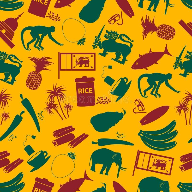 Sri-lanka country symbols color seamless pattern eps10. Sri-lanka country symbols color seamless pattern royalty free illustration
