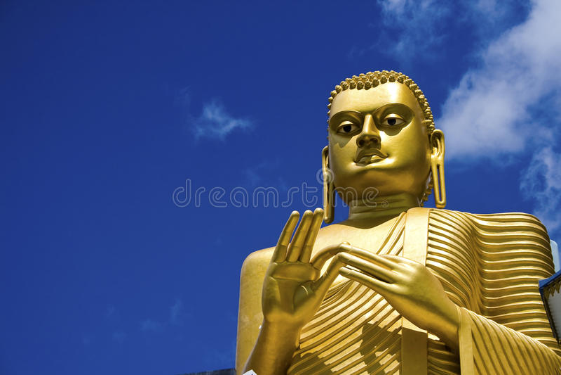 sri lanka dambulla Будды золотистое стоковое фото rf
