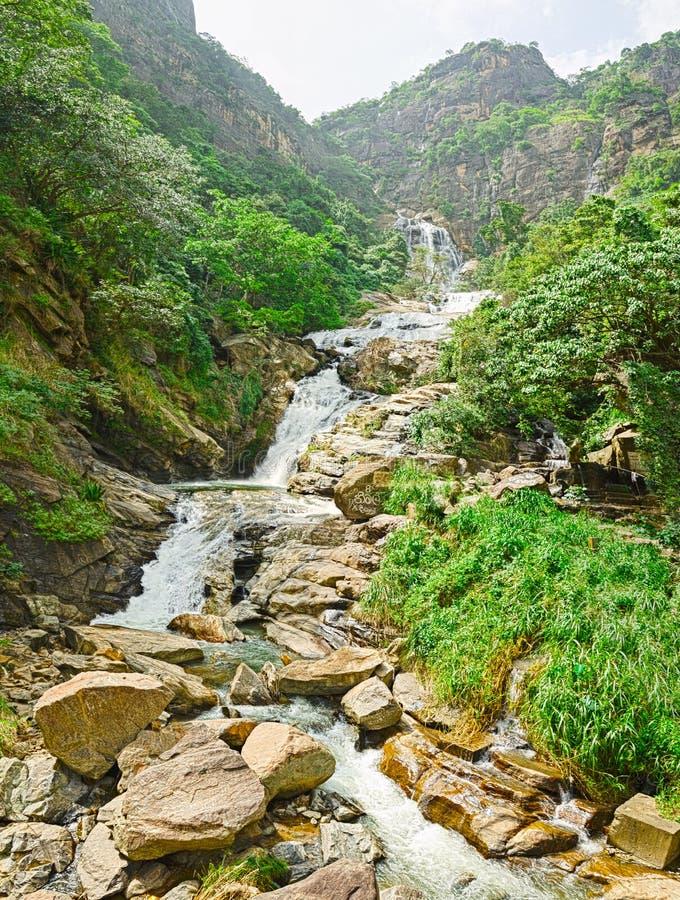Sri Lanka , Ella - Rawana waterfall royalty free stock photo