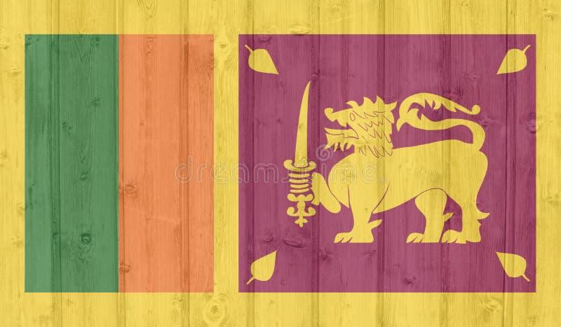 Sri Lanka flagga stock illustrationer