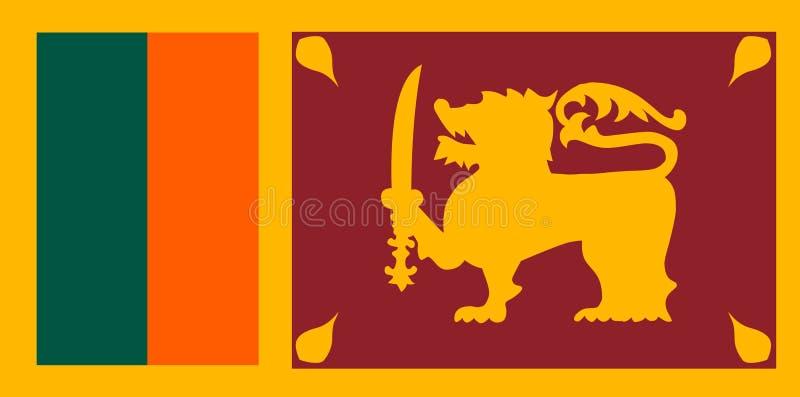 Sri Lanka flaggavektor Illustration av den Sri Lanka flaggan stock illustrationer
