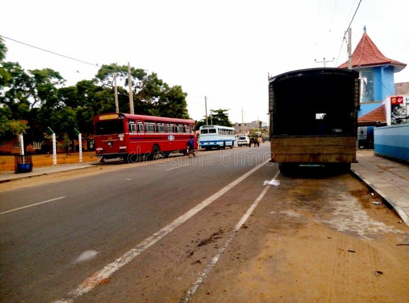 Sri Lanka gata arkivbild