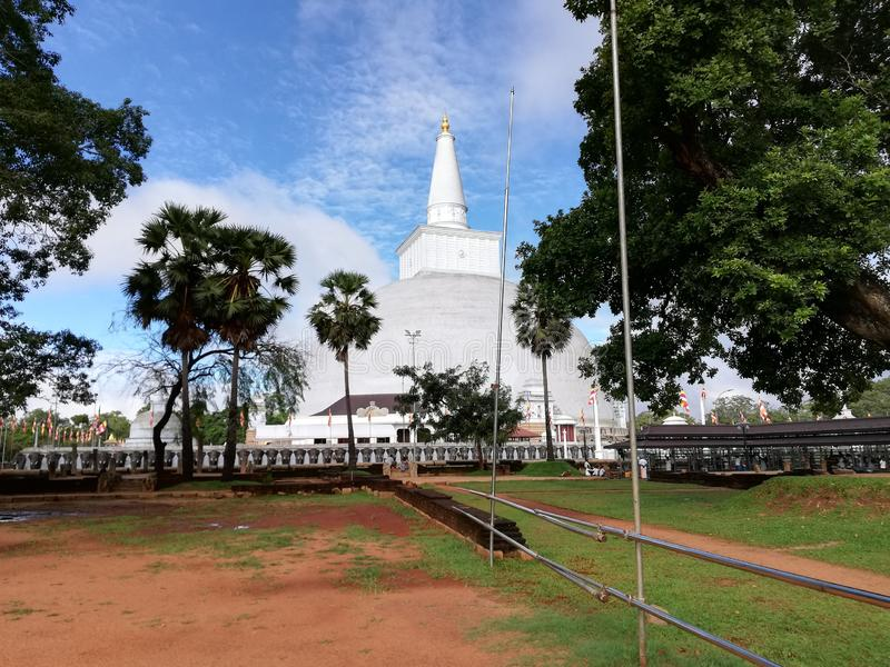 Ancient wonderful srilankan heritage `Chaithya`. Sri Lanka has a 2500 years old written history.Their ancient technology is mixed with buddhism.Visit srilanka.It stock photo