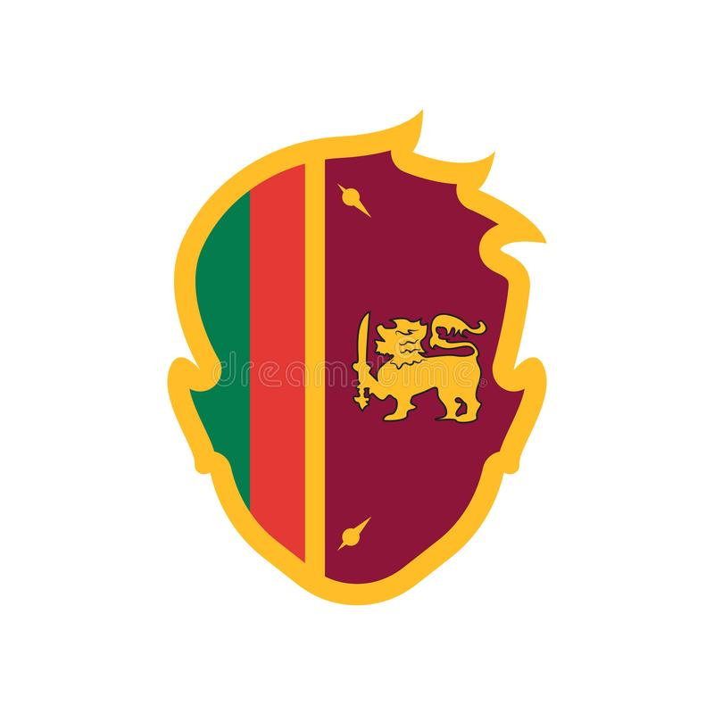 Sri lanka icon vector sign and symbol isolated on white background, Sri lanka logo concept. Sri lanka icon vector isolated on white background for your web and stock illustration