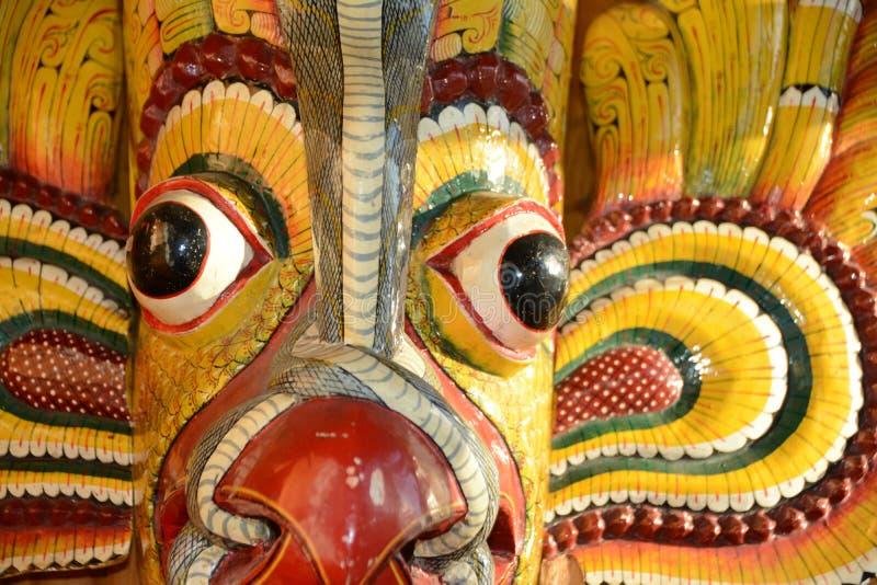 Sri Lanka, Kandy, masker stock afbeelding
